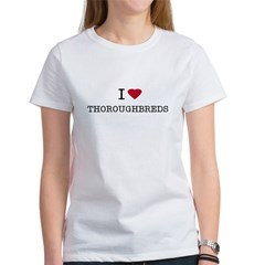 I Heart Thoroughbreds Women's T-Shirt