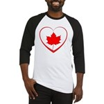 Maple Leaf Heart Baseball Jersey