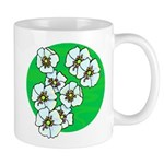 Blossoms Mug Gifts with flowers include floral theme t-shirts, fun home decor flower clocks, mugs, keepsake boxes and mousepads. Don't miss our personalized floral theme tote bags!