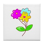 Cute Bouquet Tile Coaster