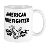 American Eagle Mug Browse our new American Firefighter Series. Choose from t-shirts, sweat shirts, gift clocks, mugs, mousepads, firefighter tote bags and other great firefighting gift ideas.
