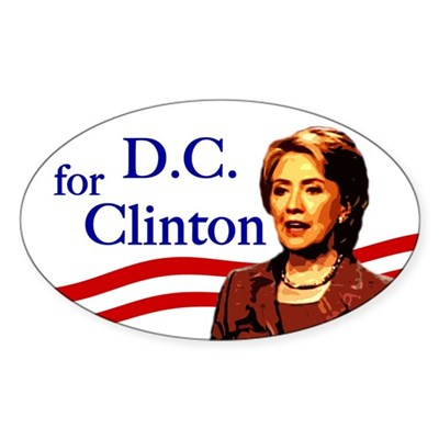 Oval D.C. for Clinton bumper sticker
