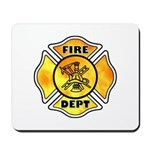 Fire Department Maltese Mousepad for your firefighter home, office or fire station!  Click to see matching t-shirts, sweats, firefighter clocks and more......