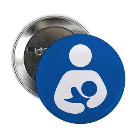 100 pack Breastfeeding Symbol Buttons Baby / kids / family 2.25 Button 100 pack by CafePress