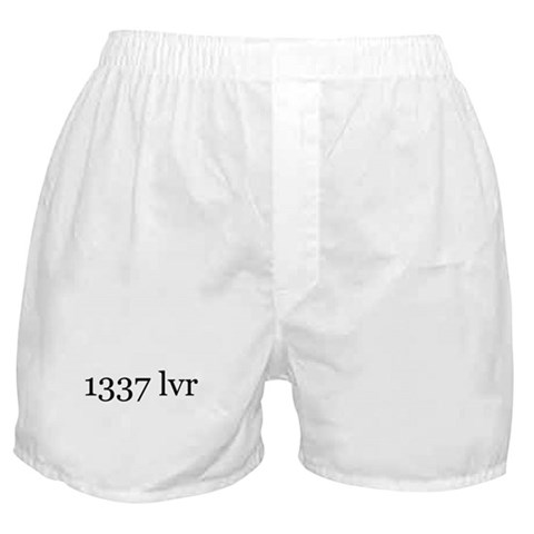 1337 lvr  Lover Boxer Shorts by CafePress