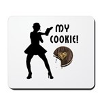 Cookies on dozens of gift mousepads, personalized t-shirts and sexy cookie tote bags, home decor, coffee mugs and more!