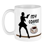 New personalized coffee lovers sexy coffee funny t-shirts, mugs, gift clocks are fun and make great birthday presents and holiday gift ideas!
