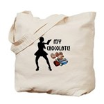 Chocolate lovers personalized tote bags with our deliciously funny designs! Matching t-shirts, mugs, clocks and home decor, click to start shopping now.....