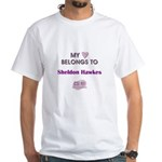 SHELDON HAWKES White T-Shirt
