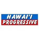 Hawaii Progressive Bumper Sticker