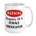 Warning! Female Firefighter mugs, t-shirts, gift clocks and much more! Click to see our female firefighter gift selections........