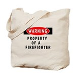 New personalized firefighter tote bags! Choose from Warning! Property of a firefighter design on t-shirts, sweats, tote bags, mousepads, coffee mugs, gift clocks and more great gift ideas!