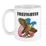 Patriotic Firefighter gift mugs, t-shirts and sweat shirts personalized with our firefighter American eagle and firefighter classic designs all available online!  Browse our firefighter gift collections here.......
