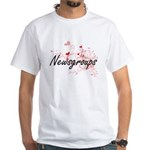 Newsgroups Artistic Design with Hearts T-Shirt