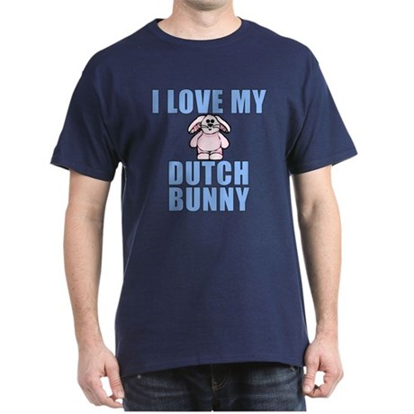 I Love My Dutch Rabbit Dark T-Shirt