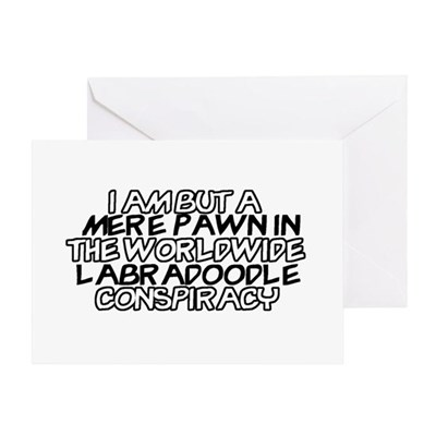 Labradoodle Conspiracy Greeting Card