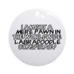Labradoodle Conspiracy Ornament