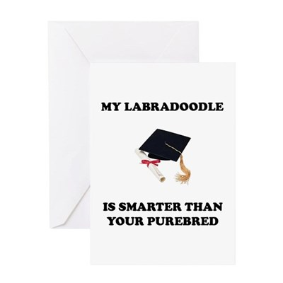 Labradoodle Smarter Greeting Card