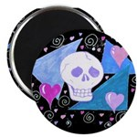 Gothic Skull & Hearts Magnet