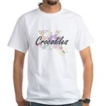 Crocodiles artistic design with flowers T-Shirt
