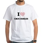 I love Crocodiles (Heart Made from Words) T-Shirt