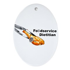 FoodService Dietitian Ornament (Oval)