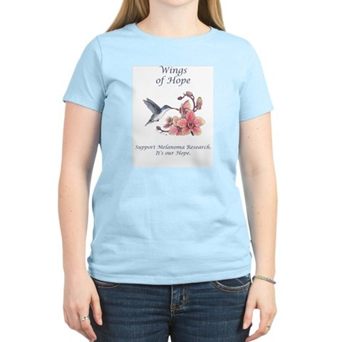 Hummingbird Women's Pink T-Shirt Flower Women's Light T-Shirt by CafePress