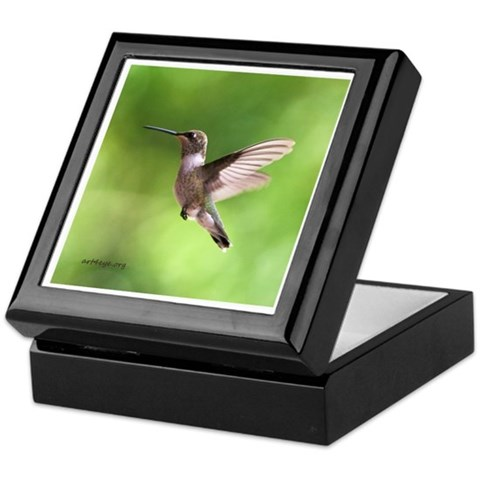 Hummingbird  Cool Keepsake Box by CafePress