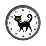 Kitty Wall Clock Adorable green eyed kitty with the mysterious big green eyes wants you to adopt her on t-shirts, baby gift tees and bibs, personalized tote bags and gifts.