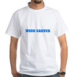 Wood Carver Blue Bold Design T-Shirt