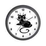 Cute Black Cat Wall Clock If you are a cat lover or looking for cat lover t-shirts and gifts, we have adorable designs for you. Choose from kitties on t-shirts, sweat shirts, baby gift wear, gift mugs and clocks!