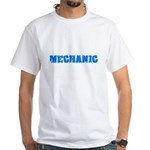 Mechanic Blue Bold Design T-Shirt