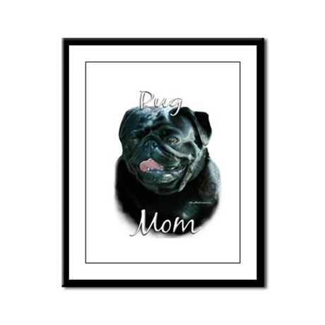 Pug Mom2 Framed Panel Print
