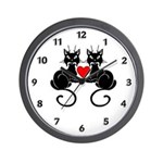 Black Cat Lovers Wall Clock, custome cat theme gift mugs, t-shirts with adorable kittens, cats and cat lover themes!  Click to see our black cat lovers tote bags and more......