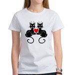 Black Cat Love Women's T-Shirt