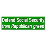 Defend Social Security Bumper Sticker