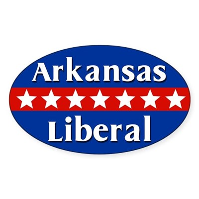 Arkansas Liberal Oval Car Sticker