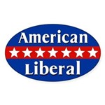 American Liberal Oval Car Sticker