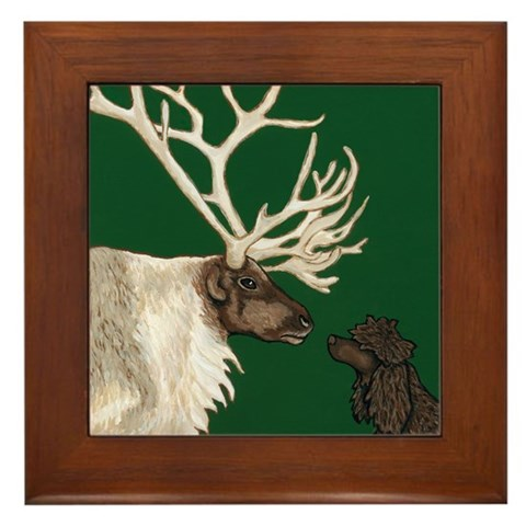 - IWS  Reindeer Pets Framed Tile by CafePress