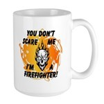Spooky Halloween gift ceramic and travel coffee mugs available for firefighter costume fun all day long!  Click to see our collection of firefighter halloween theme party fun.......