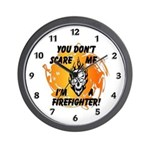 Firefighter Halloween theme gift clock personalized with skull and flames for firefighters!  Click to see the whole collection......