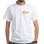 Chinese Jesus Fish White T-Shirt