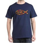 Chinese Jesus Fish Dark T-Shirt