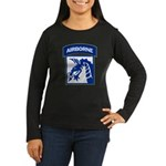 18th Army Airborne Women's Long Sleeve Dark T-Shir