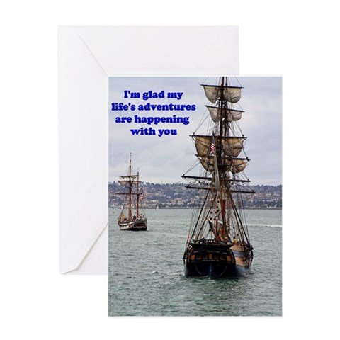 - LIFE'S ADVENTURES Ocean Greeting Card by CafePress