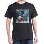 Funny Santa Claus with snowman T-Shirt