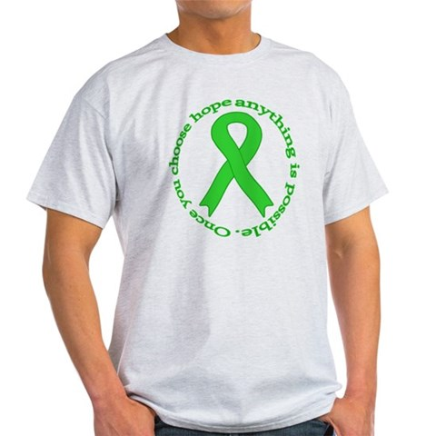 Lime Green Hope Health Light T-Shirt by CafePress