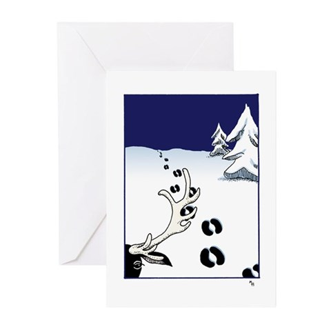 Tracks in the Snow Greeting Cards 20 Seasons Gre Animal Greeting Cards Pk of 20 by CafePress