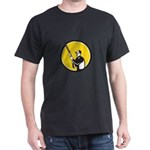 Hunter Holding Shotgun Rifle Circle Retro T-Shirt