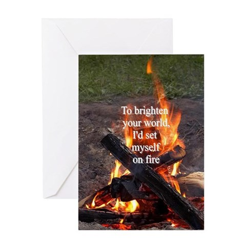- TO BRIGHTEN YOUR WORLD Love Greeting Card by CafePress